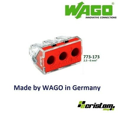 Wago 773-173 Push Connectors 6mm²  PUSH WIRE connector for junction boxes block