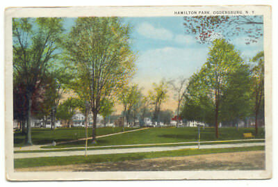 Ogdensburg NY Hamlton Park Old Postcard  - New York
