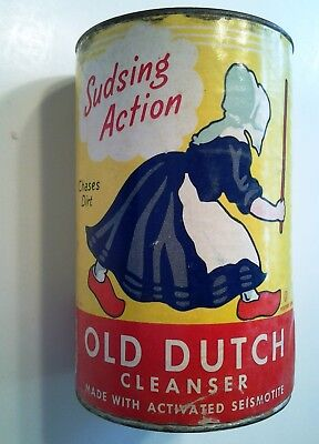 Old Dutch Cleanser Vintage Advertising Can Cardboard, The Cudahy Packing Co