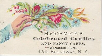 McCormick's Celebrated Candies New York Victorian Trade Card