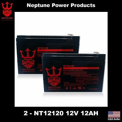2 Pack - Replacement UB12120F2 12V 12Ah F2 Wheelchair Scooter Battery Replaces
