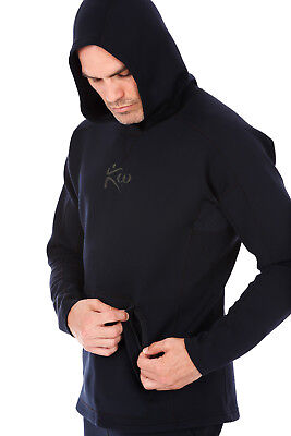 Kutting Weight Neoprene Weight Loss Sauna Suit All-Black Workout Hoodie
