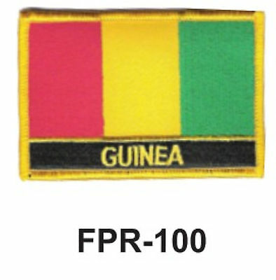 Guinea Flag Embroidered Patch T4