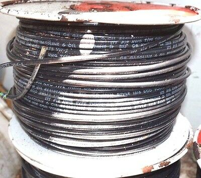 NEW 500' ITT Wire 12 AWG Solid Copper 600V THHN/THWN Black Oil Resistant W5102