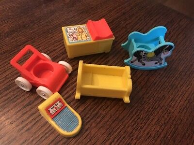 Little People Nursery Vintage Fisher Price Stroller Changing Table Scale Baby