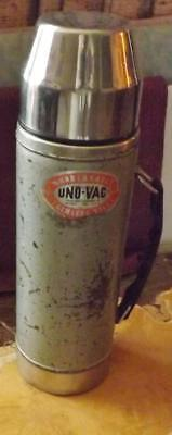 Vintage Uno-Vac Unbreakable Stainless Steel Thermos USA
