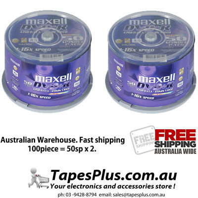 100 pack DVD+R Printable 4.7Gb 16X Blank Recordable Discs Spindle