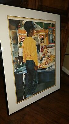 """""""High hopes"""" African American art. Boy / child painting"""