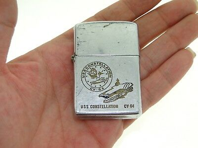 Rare Zippo Uss Constellation Cv64 Bradford, Pa Lighter