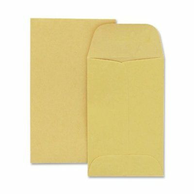 Quality Park 20lb Brown Kraft #3 Coin/Small Parts Envelopes 500 Count 50260