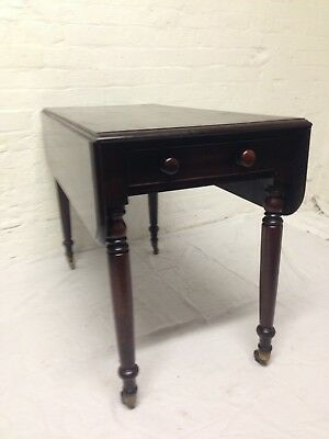 Original 19thC Antique Mahogany Pembroke Table Great Quality & Condition
