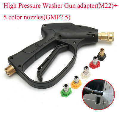 AU High Pressure Washer Gun Adapter + 5x GMP2.5 Nozzle For Karcher Foam Lance