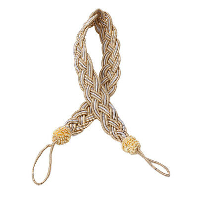 Braided Satin Rope Curtain Tie Back Living Room Holdbacks Hold Back Decor