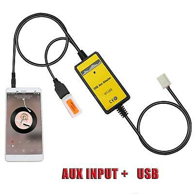 Auto USB Aux-in Adapter MP3 Player Radio Interface For Toyota Camry Corolla K9B7