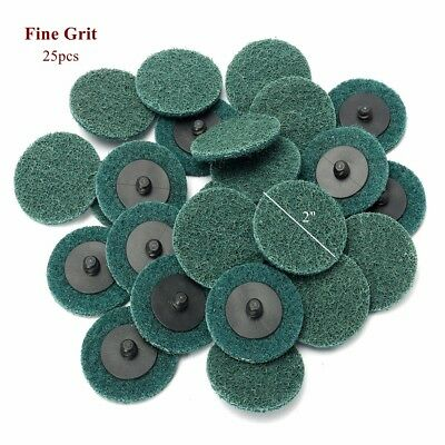"""25Pc 2"""" Fine Grit Roloc Cleaning Conditioning Roll Lock Surface Sanding Discs"""