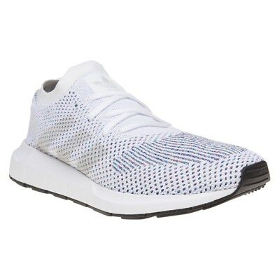 154c58f9e57ac Mens Adidas White Swift Run Primeknit Textile Sneakers Running Style Lace Up