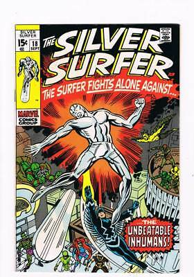 Silver Surfer # 18  Alone Against the Inhumans !  grade 8.5 scarce book !