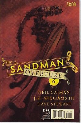 SANDMAN OVERTURE  6  ...NM- ...2015 ...Cover by Dave McKean!.....Bargain!