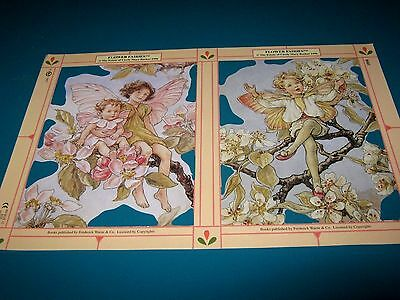 Vintage Style Die Cut  Paper Scraps New .flower Fairies..discontinued