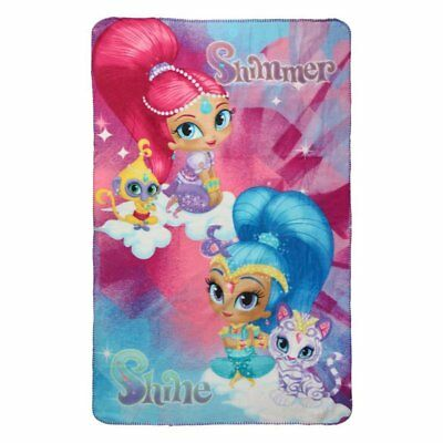 Shimmer & Shine Girls Polar Fleece Blanket Throw 100x150cm