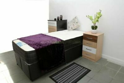 2ft6 or 3ft Single Divan Bed With Any Type Mattress Storage Drawers Headboard..