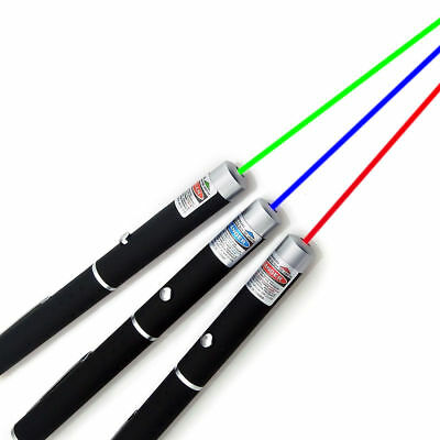 High Quality 3PC Green + Blue Violet + Red Light Beam Powerful 5MW Laser Pointer