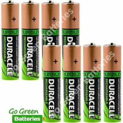 8 x Duracell AA 2450 mAh PRE/ STAY CHARGED Rechargeable Batteries NiMH HR6 phone