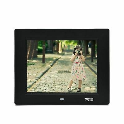 8 Inch Hi-Resolution LED Digital Photo Frame & HD Video Playback with 8GB SD ...