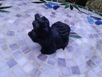 WV Hand Made Black Coal Dog With Amber Eyes - Cute!