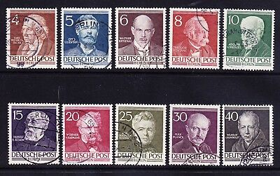 GERMANY BERLIN 1952 SG891/900 Famous Berliners set of 10 very fine used. Cat £65