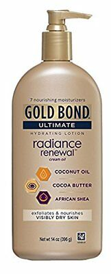 Gold Bond Ultimate Hydrating Lotion, Radiance Renewal Cream Oil, 14 Oz Pump
