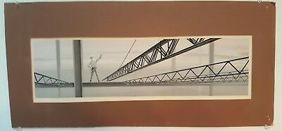 """Vintage 1960s ARMCO Steel Original Advertising Painting 22""""x 6"""" with Letterhead"""