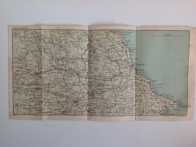 Yorkshire, Filey Bay, Scarborough, Pickering, 1893 Antique Map, Atlas