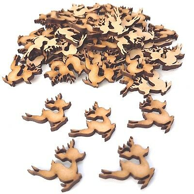 25 x Christmas Bambee Reindeer Laser Cut MDF wooden Craft Blanks/Shapes