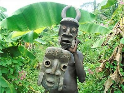 4867 African Tribal Collection - Stunning old Grebo face Mask, Liberia Dan
