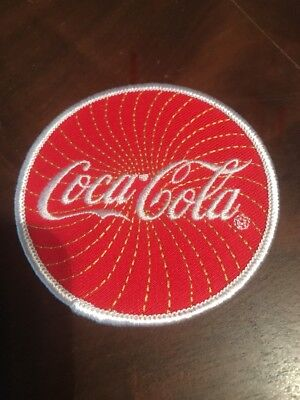 Coke Cola Round Soft Drink Soda Sew On Embroidered Patch FREE SHIPPING