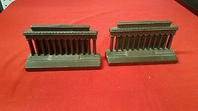 Pair of Vintage Bronze Wash Cast Iron Bookends