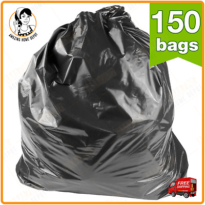 3 Cases 150 Counts Trash Can Liner 60 Gallon Heavy Duty Garbage Bag 3 mil Black