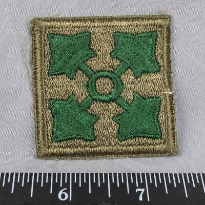 Vintage WWII Korean War Era US Army 4th Infantry Division Patch ajd