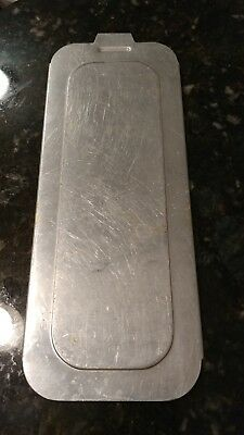 "Vintage Aluminum Loaf Pan Sliding LID ONLY 10.75"" x 4"" Used No Brand"