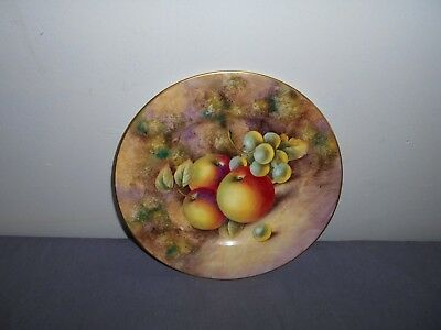 Royal Worcester Hand Painted Plate Signed Smith.
