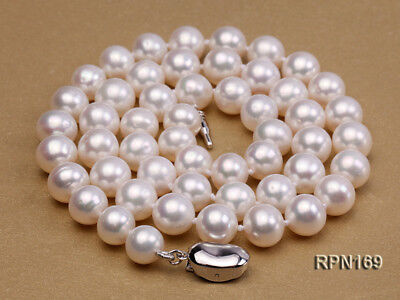 Quality AAA 7.5-8mm Classic White Round Real Genuine Freshwater Pearl Necklace