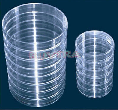 10Pcs Sterile Plastic Petri Dishes for LB Plate Bacterial Yeast 90mm x 15mm GW