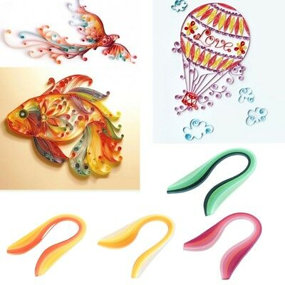 Paper Quilling Strips 100 Pcs 15.35-inch Length Gradient Color for Craft Project