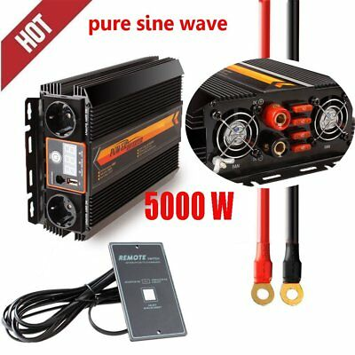 Peak 5000w/2000w Pure Sine Wave Power Inverter DC 12V to AC 220V car  Inverter #