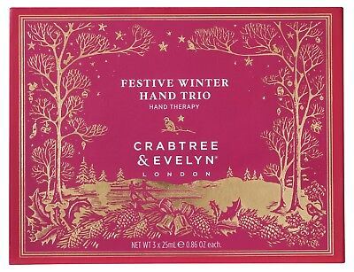 Crabtree Evelyn Cold Christmas Hand Therapy Trio 3 x 25 g For Soft Feel New