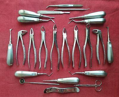 29-Pcs-ORAL-DENTAL-EXTRACTION-SURGERY-EXTRACTING-ELEVATORS-FORCEPS-INSTRUMENTS