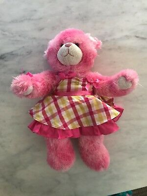 PInk teddy Build a Bear with outfit