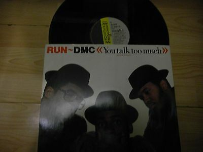 "Run D.M.C  12""  You talk to much    WICKED  Hip Hop"