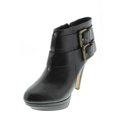 Diesel 4906 Womens Melrose Sydnay Black Leather Heels Ankle Boots Shoes 7.5 BHFO
